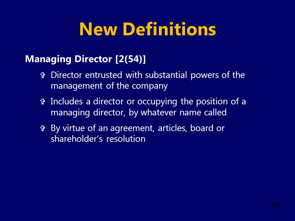 New Definitions Managing Director [2(54)]